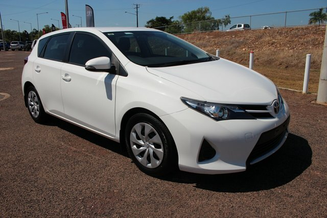 Pre-Owned Toyota Corolla ZRE182R Ascent S-CVT Darwin, 2015 Toyota Corolla ZRE182R Ascent S-CVT Glacier White 7 Speed 1 SP AUTOMATIC Hatchback