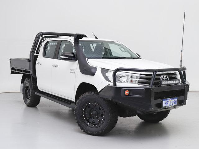 Used Toyota Hilux GUN126R MY17 SR (4x4), 2017 Toyota Hilux GUN126R MY17 SR (4x4) White 6 Speed Automatic Dual Cab Chassis