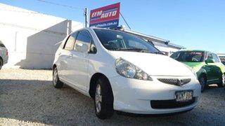 2007 Honda Jazz GD VTi White 7 Speed Constant Variable Hatchback.