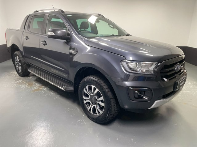 Used Ford Ranger PX MkIII 2019.00MY Wildtrak Hamilton, 2019 Ford Ranger PX MkIII 2019.00MY Wildtrak Grey 6 Speed Sports Automatic Double Cab Pick Up