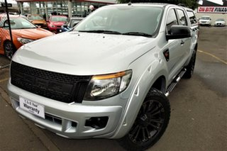 2014 Ford Ranger PX XL Silver 6 Speed Sports Automatic Utility.