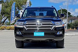 2018 Toyota Landcruiser VDJ200R VX Black 6 Speed Sports Automatic Wagon.