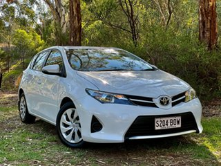 2015 Toyota Corolla ZRE182R Ascent S-CVT Glacier White 7 Speed Constant Variable Hatchback.