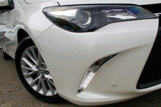 2015 Toyota Camry ASV50R Atara SL White 6 Speed Sports Automatic Sedan.