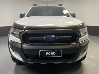 2017 Ford Ranger PX MkII Wildtrak Double Cab Frozen White 6 Speed Sports Automatic Utility.