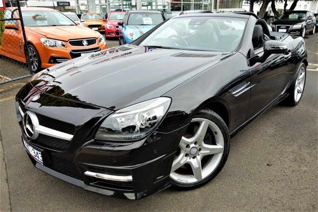 Used Mercedes-Benz SLK-Class R172 SLK250 7G-Tronic + Seaford, 2013 Mercedes-Benz SLK-Class R172 SLK250 7G-Tronic + Black 7 Speed Sports Automatic Roadster