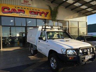 2011 Nissan Patrol GU MY08 DX (4x4) White 5 Speed Manual Leaf Cab Chassis.