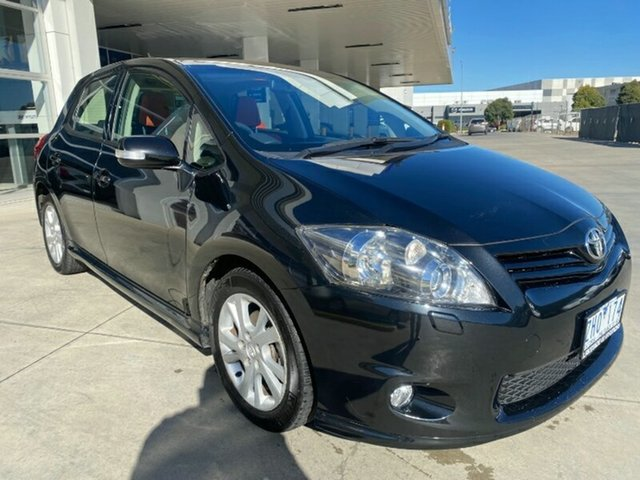 Used Toyota Corolla ZRE152R MY11 Levin ZR Ravenhall, 2012 Toyota Corolla ZRE152R MY11 Levin ZR Black 4 Speed Automatic Hatchback