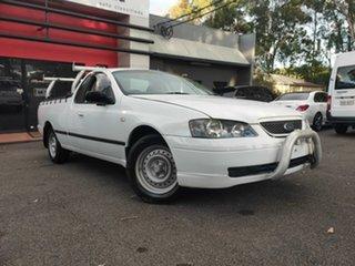 2003 Ford Falcon BA SE Ute Super Cab XL White 4 Speed Sports Automatic Utility.