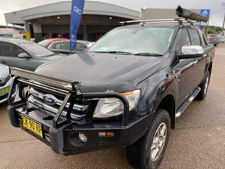 2012 Ford Ranger PX XLT Double Cab Black Mica 6 Speed Manual Utility.