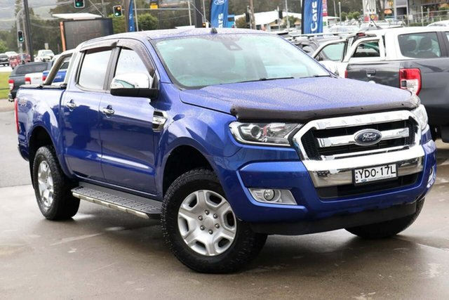 Used Ford Ranger PX MkII XLT Double Cab West Gosford, 2016 Ford Ranger PX MkII XLT Double Cab Blue 6 Speed Manual Utility