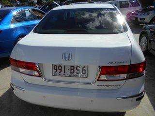 2005 Honda Accord 7th Gen V6 Luxury White 5 Speed Automatic Sedan