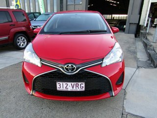 2015 Toyota Yaris NCP130R Ascent Red 4 Speed Automatic Hatchback