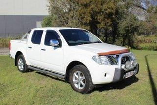 2011 Nissan Navara D40 MY10 ST-X White 5 Speed Automatic Utility.