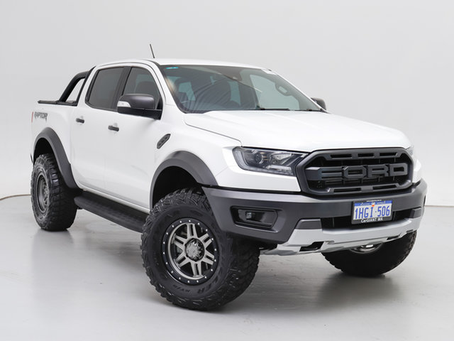 Used Ford Ranger PX MkIII MY19 Raptor 2.0 (4x4), 2019 Ford Ranger PX MkIII MY19 Raptor 2.0 (4x4) White 10 Speed Automatic Double Cab Pick Up