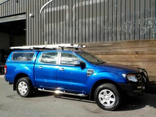 2013 Ford Ranger PX XLT Double Cab 4x2 Hi-Rider Blue 6 Speed Manual Utility.