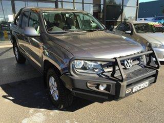2011 Volkswagen Amarok 2H MY12 TDI400 (4x4) Grey 6 Speed Manual Dual Cab Utility.