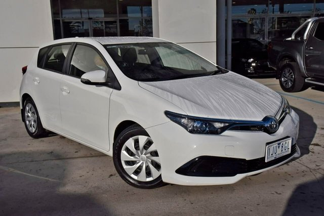 Used Toyota Corolla ZRE182R Ascent S-CVT Oakleigh, 2017 Toyota Corolla ZRE182R Ascent S-CVT White 7 Speed Constant Variable Hatchback
