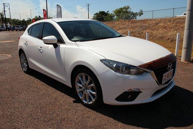 Pre-Owned Mazda 3 BM5236 SP25 SKYACTIV-MT Darwin, 2016 Mazda 3 BM5236 SP25 SKYACTIV-MT White 6 Speed Manual Sedan