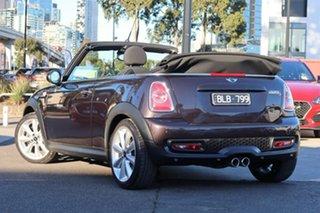 2013 Mini Cabrio R57 LCI Cooper S Steptronic Brown 6 Speed Sports Automatic Convertible.