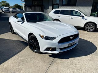 2015 Ford Mustang FM SelectShift White 6 Speed Sports Automatic Convertible.