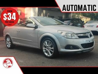 2007 Holden Astra AH MY07.5 Twin TOP Metallic Silver 4 Speed Automatic Convertible.