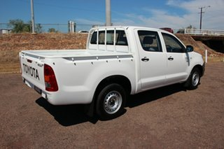 2009 Toyota Hilux TGN16R MY09 Workmate 4x2 Glacier White 5 Speed Manual Utility