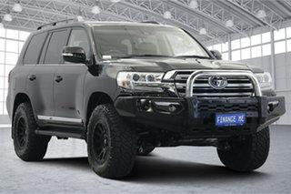 2019 Toyota Landcruiser VDJ200R Sahara Black 6 Speed Sports Automatic Wagon.