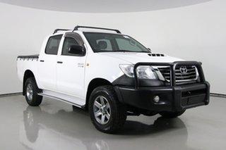 2013 Toyota Hilux KUN26R MY12 SR (4x4) White 5 Speed Manual Dual Cab Pick-up.