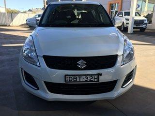 2015 Suzuki Swift FZ GL White 4 Speed Automatic Hatchback.