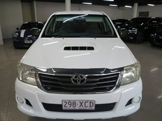2012 Toyota Hilux KUN16R MY12 SR Double Cab 4x2 White 5 Speed Manual Utility.