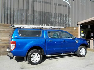 2013 Ford Ranger PX XLT Double Cab 4x2 Hi-Rider Blue 6 Speed Manual Utility
