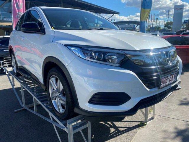 Used Honda HR-V MY20 VTi Springwood, 2019 Honda HR-V MY20 VTi Platinum White 1 Speed Constant Variable Hatchback