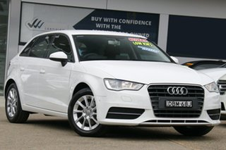2015 Audi A3 8V MY16 Attraction Sportback S Tronic White 7 Speed Sports Automatic Dual Clutch.