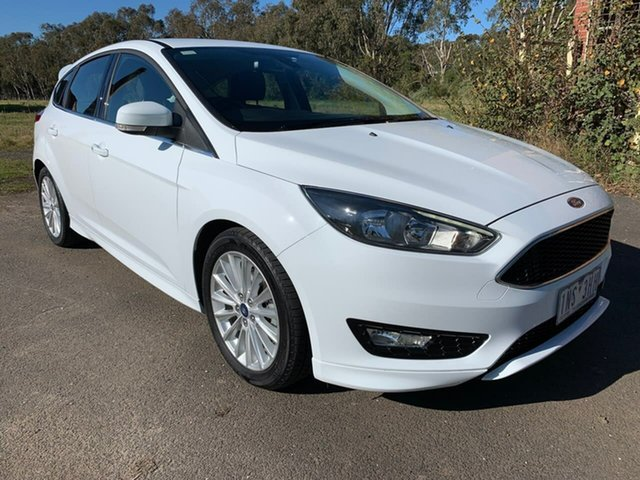 Used Ford Focus LZ Sport Geelong, 2018 Ford Focus LZ Sport White 6 Speed Automatic Hatchback