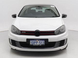 2011 Volkswagen Golf 1K MY11 GTi White 6 Speed Direct Shift Hatchback.