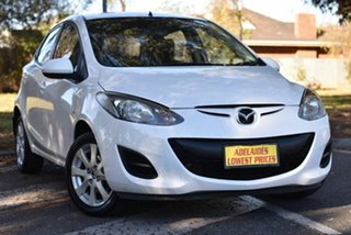 2014 Mazda 2 DE10Y2 MY14 Neo Sport White 4 Speed Automatic Hatchback.
