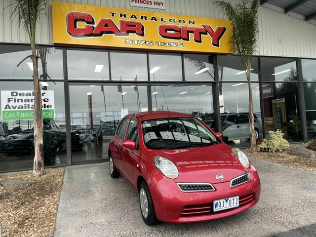 Used Nissan Micra K12 Traralgon, 2008 Nissan Micra K12 Red 4 Speed Automatic Hatchback