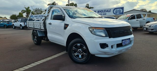 Used Ford Ranger PX XL East Bunbury, 2012 Ford Ranger PX XL White 6 Speed Manual Cab Chassis
