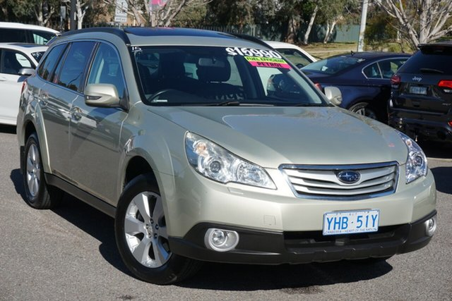 Used Subaru Outback B5A MY10 2.5i Lineartronic AWD Premium Phillip, 2010 Subaru Outback B5A MY10 2.5i Lineartronic AWD Premium Gold 6 Speed Constant Variable Wagon