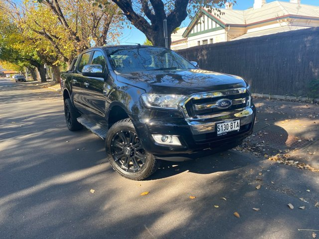 Pre-Owned Ford Ranger PX MkII XLT Double Cab Hawthorn, 2017 Ford Ranger PX MkII XLT Double Cab Black 6 Speed Sports Automatic Utility