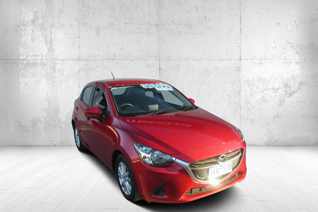 Used Mazda 2 DJ2HAA Maxx SKYACTIV-Drive Bendigo, 2017 Mazda 2 DJ2HAA Maxx SKYACTIV-Drive Red 6 Speed Sports Automatic Hatchback