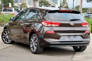 2017 Hyundai i30 PD MY18 Elite D-CT Brown 7 Speed Sports Automatic Dual Clutch Hatchback.