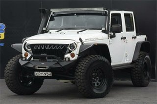 2013 Jeep Wrangler JK MY2013 Unlimited Rubicon 10th Anniversary White 5 Speed Automatic Softtop.