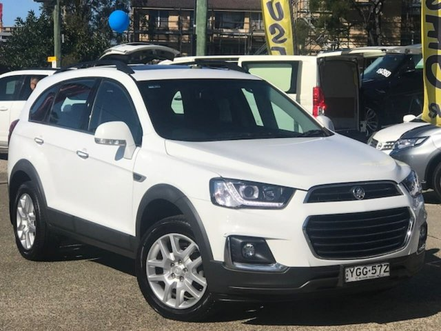Used Holden Captiva CG MY17 Active 2WD Liverpool, 2017 Holden Captiva CG MY17 Active 2WD White 6 Speed Sports Automatic Wagon