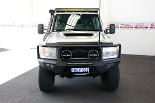 2016 Toyota Landcruiser VDJ79R MY12 Update GXL (4x4) Silver Pearl 5 Speed Manual Double Cab Chassis