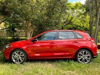 2021 Hyundai i30 PD.V4 MY21 N Line D-CT Lava Orange 7 Speed Sports Automatic Dual Clutch Hatchback.