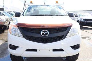 2012 Mazda BT-50 UP0YF1 XT Freestyle 4x2 Hi-Rider White 6 Speed Manual Cab Chassis