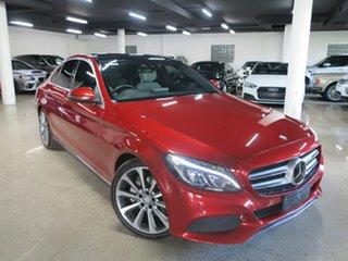 2015 Mercedes-Benz C-Class W205 C250 7G-Tronic + Red 7 Speed Sports Automatic Sedan.