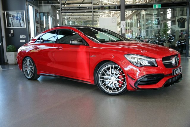 Used Mercedes-Benz CLA-Class C117 809MY CLA45 AMG SPEEDSHIFT DCT 4MATIC North Melbourne, 2018 Mercedes-Benz CLA-Class C117 809MY CLA45 AMG SPEEDSHIFT DCT 4MATIC Red 7 Speed